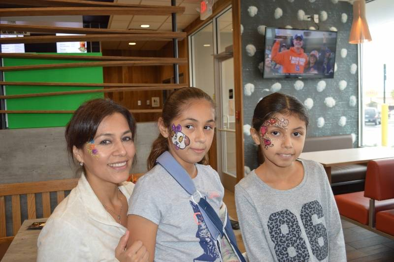 Face Painting at the new Roselle Rd. McDonald's