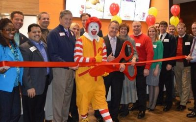 Ribbon Cutting at the New Mount Prospect McDonald's
