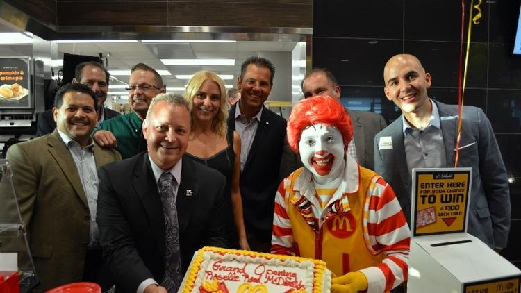 Ribbon Cutting at the New Barrington Square McDonald's