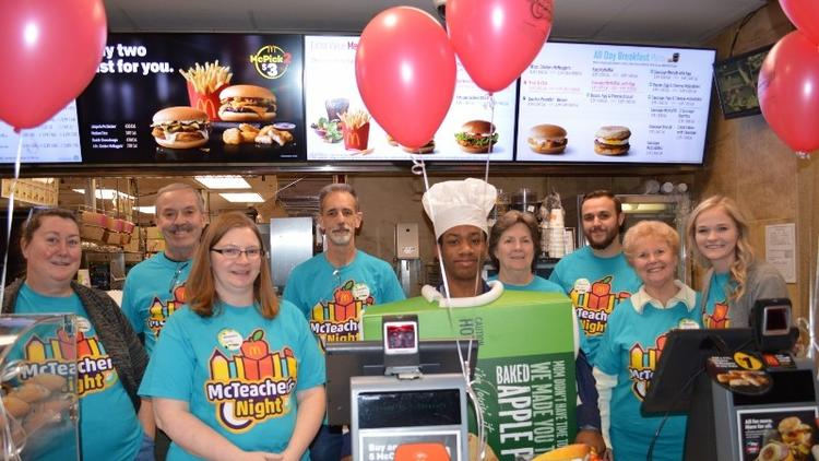 Westchester McDonald's Hosts McTeacher's Night