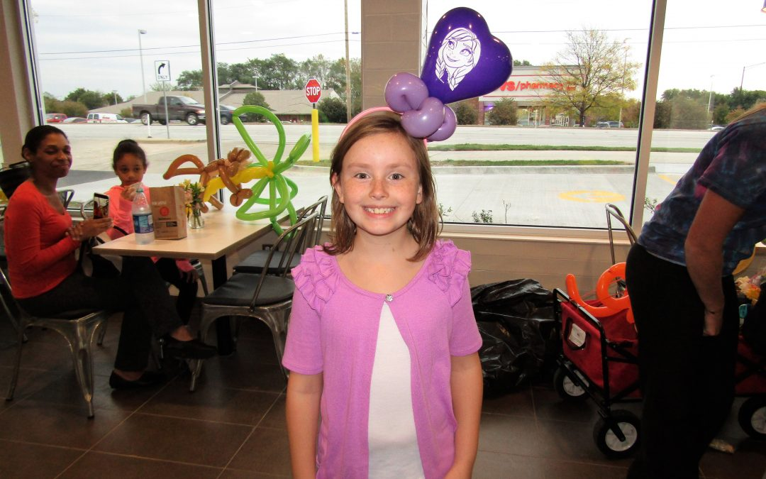 Balloon Creations at the Newly Remodeled South Elgin McDonald's on McLean Blvd.