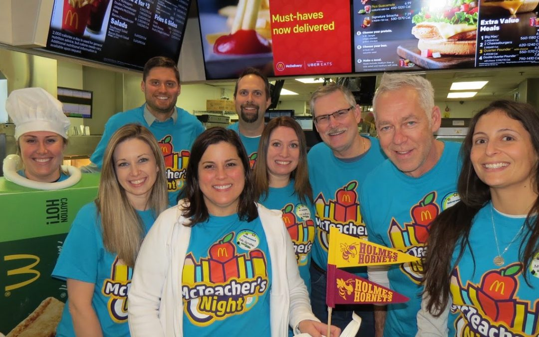 Holmes Middle School McTeacher's Night 11/29/2017