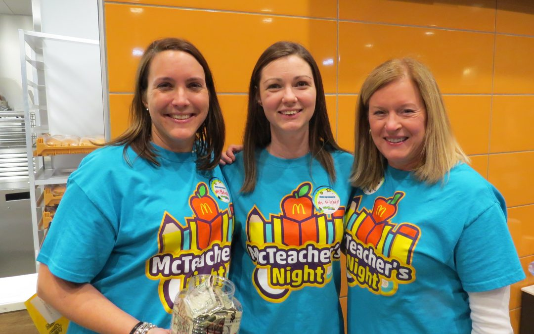 St. Raymond School raises funds for technology at McTeacher's Night