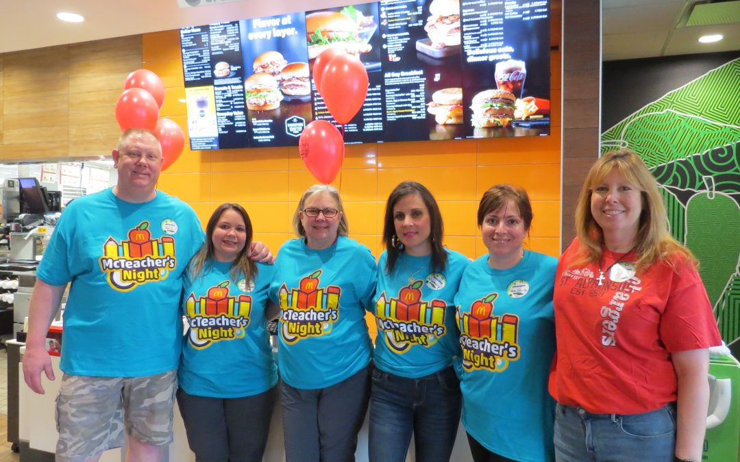 St. Alphonsus School Has their First McTeacher's Night at the Mt. Prospect McDonald's