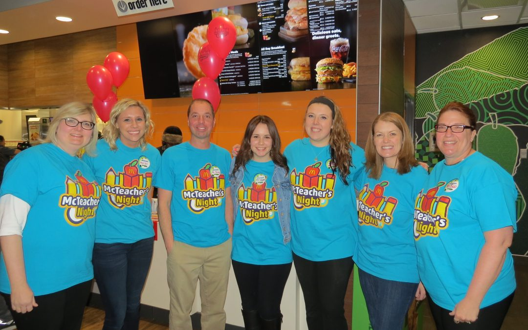 St. Paul Lutheran School Has its Third Annual McTeacher's Night