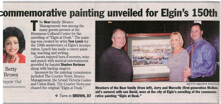 Commemorative Painting Unveiled for Elgin's 150th