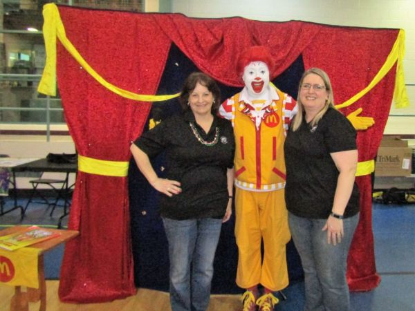 Ronald McDonald takes part in Mardi Gras Family Night