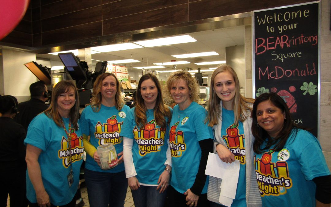 Neil Armstrong has a blast at their first McTeacher's Night