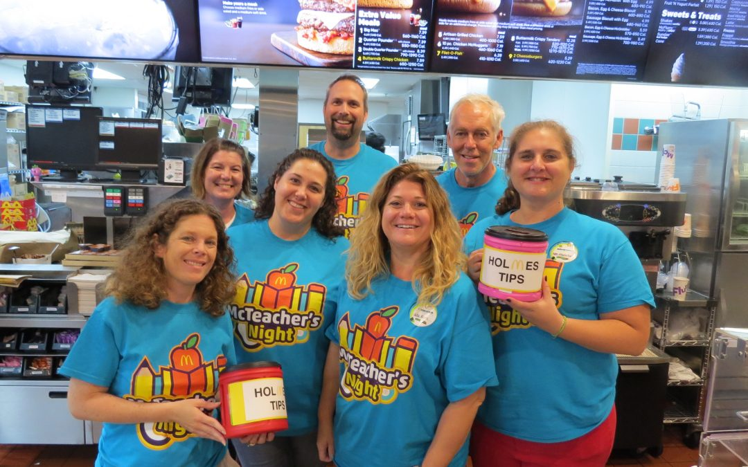 Holmes Middle School McTeacher's Night