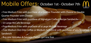 October Mobile Offers