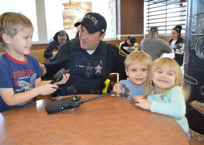 elgin cocoa with a cop event