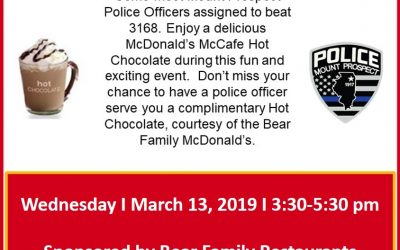 Bear Family Cocoa with A Mt. Prospect Cop