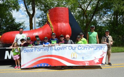 Bear Family McDonald's Celebrates 4th of July in Niles and Morton Grove
